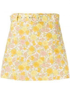 Желтые шорты с высокой посадкой с поясом Faithfull The Brand