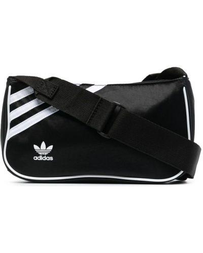 Нейлоновая черная маленькая сумка на молнии Adidas