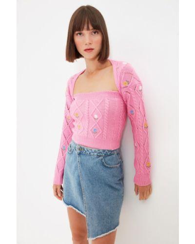 Garnitur - różowy Trendyol