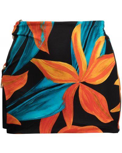 Czarna spódnica w kwiaty Louisa Ballou