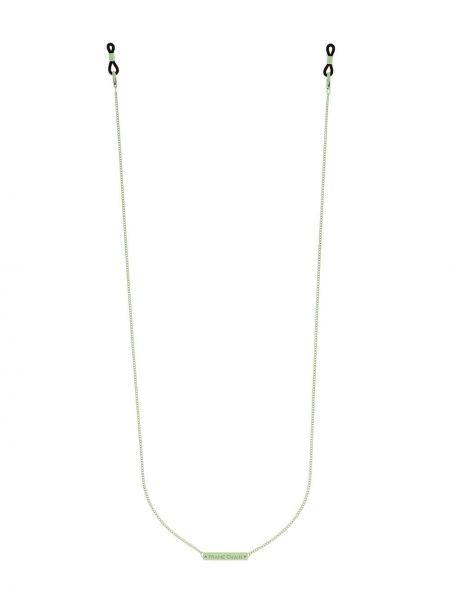 Ażurowe zielone okulary Frame Chain