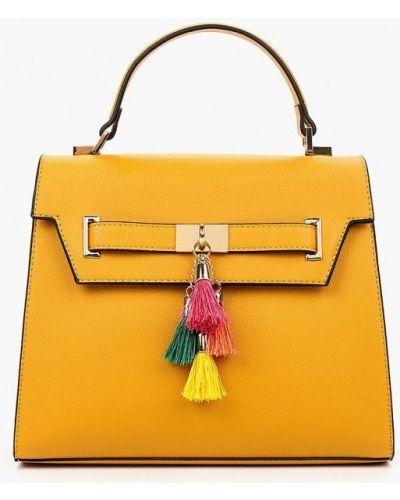 Желтая кожаный сумка Aldo