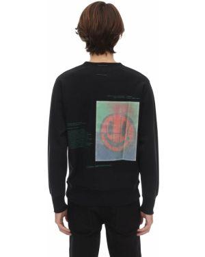 Prążkowana czarna bluza Poliquant