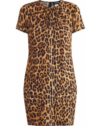 Платье мини с драпировкой с вырезом Dsquared2