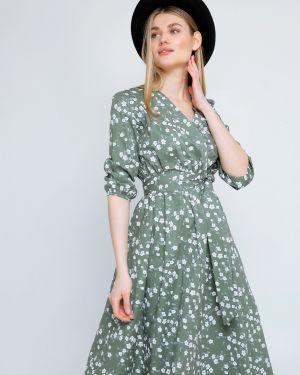 Платье миди с запахом с цветочным принтом Cardo