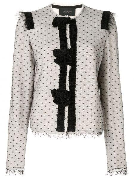 Шелковый белый пиджак Giambattista Valli