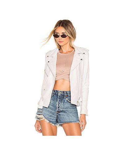 Кожаная куртка на молнии с карманами Understated Leather