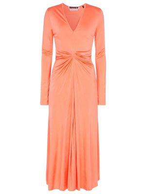 Pomarańczowa sukienka z długimi rękawami Rotate Birger Christensen