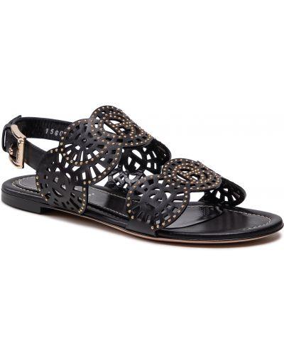 Czarne sandały na lato Baldinini