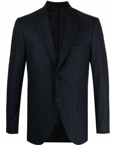 Шерстяной синий удлиненный пиджак на пуговицах Tiger Of Sweden