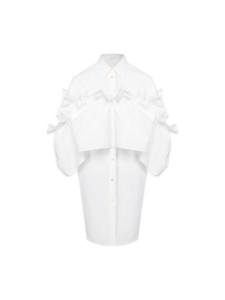 Хлопковое белое платье Mm6