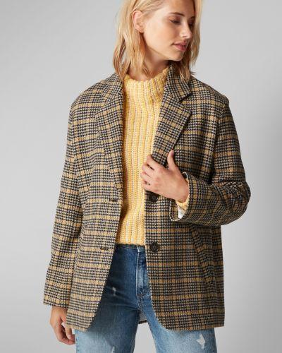 Укороченное пальто шерстяное с карманами Marc O`polo