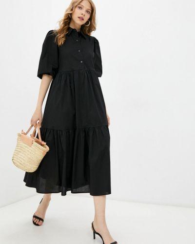 Черное платье рубашка Pinkkarrot