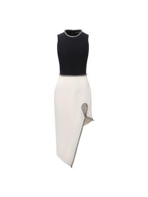 Платье из вискозы - белое David Koma