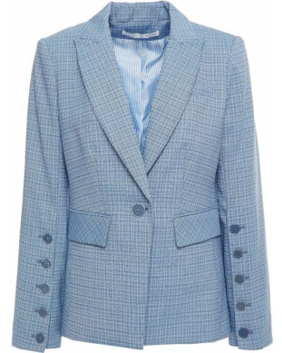 Шерстяной синий пиджак с подкладкой Veronica Beard