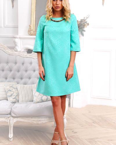 Бирюзовое платье трапеция Modniy Oazis