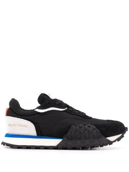 Ażurowy czarny włókienniczy sneakersy zasznurować Filling Pieces