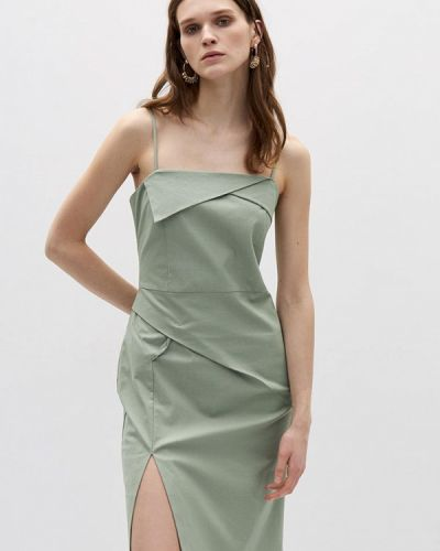 Прямое зеленое платье А-силуэта Lime