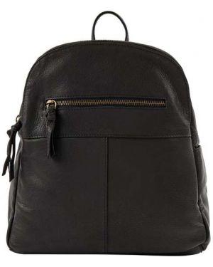 Czarny torba na ramię skórzany w paski Treats