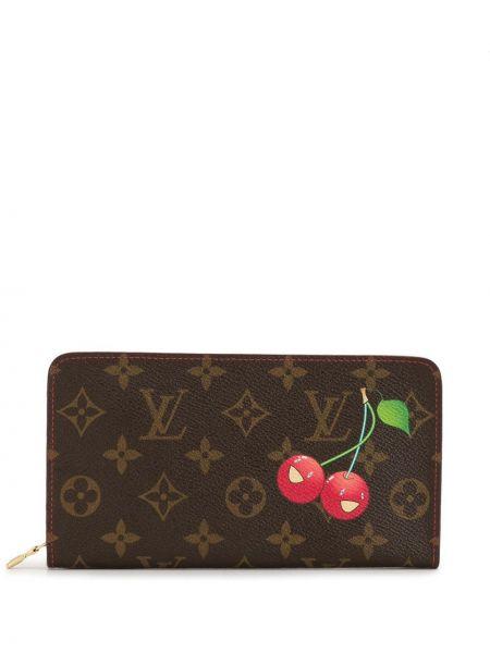 Кожаный кошелек на молнии с карманами Louis Vuitton