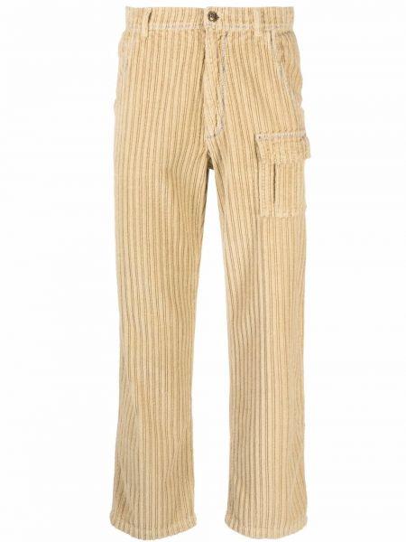 Beżowe spodnie sztruksowe Erl