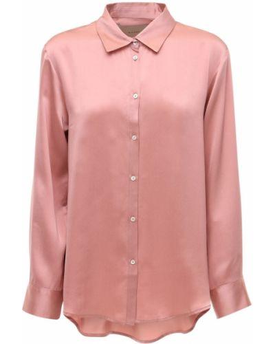 Пижамный шелковый розовый топ Asceno