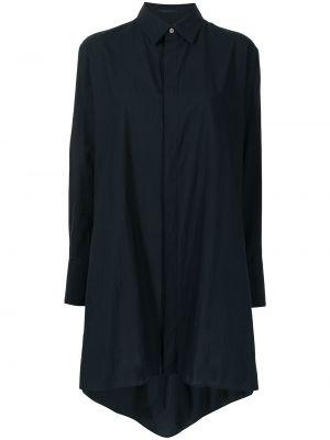 Длинная рубашка - синяя Yohji Yamamoto