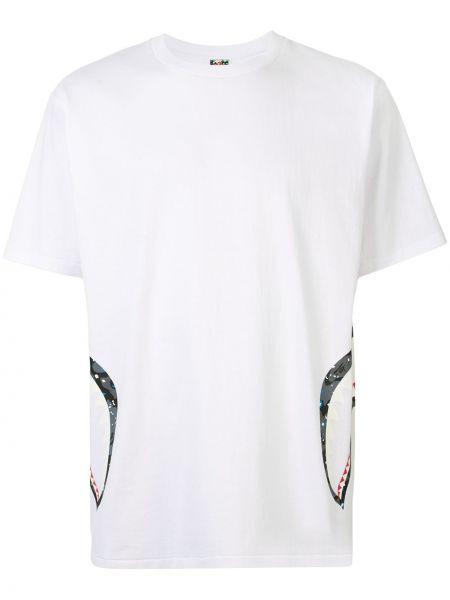 Koszula krótkie z krótkim rękawem prosto z nadrukiem Bape