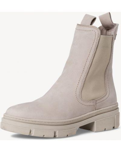 Кожаные ботинки челси - серые Tamaris