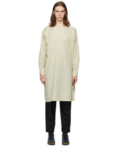 Zielony światło bawełna tunika z długimi rękawami Jil Sander
