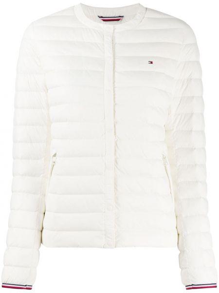 Белая прямая куртка на пуговицах круглая Tommy Hilfiger