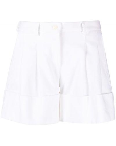 Хлопковые белые шорты на пуговицах Jejia