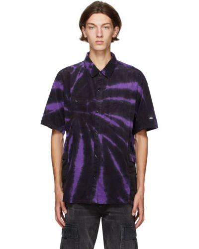 Черная рубашка с короткими рукавами вельветовая Neighborhood