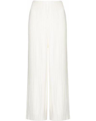 С завышенной талией белые укороченные брюки свободного кроя Solace London