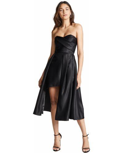 Черное платье с подкладкой из крепа Black Halo