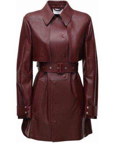 Кожаное пальто с карманами с манжетами Sportmax