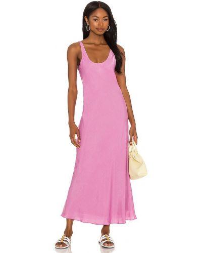 Розовое платье миди винтажное Line & Dot