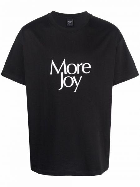 T-shirt materiałowy z printem krótki rękaw More Joy