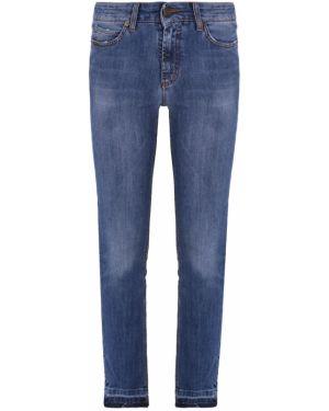 Синие джинсы с воротником на пуговицах с поясом Gender Denim