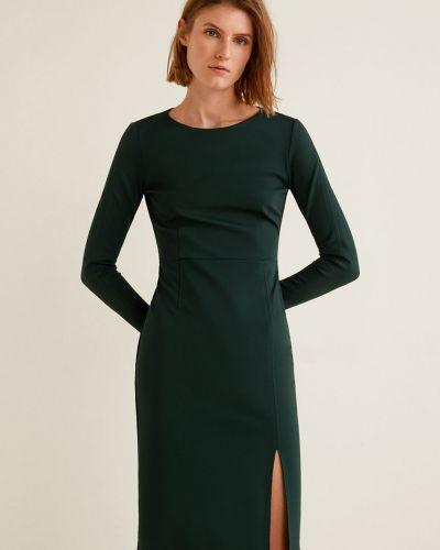 Платье миди с длинными рукавами с поясом Mango