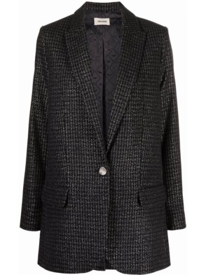 Черный пиджак с карманами Zadig&voltaire
