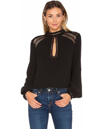 Ażurowy z rękawami czarny bluzka z haftem Tularosa