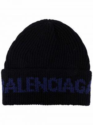 Черная шапка с логотипом Balenciaga