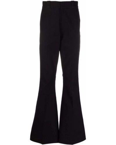 Czarne spodnie z paskiem bawełniane Raf Simons