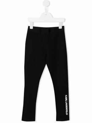 Białe spodnie z wiskozy Karl Lagerfeld Kids