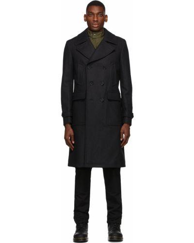 Długi płaszcz wełniany - czarny Belstaff