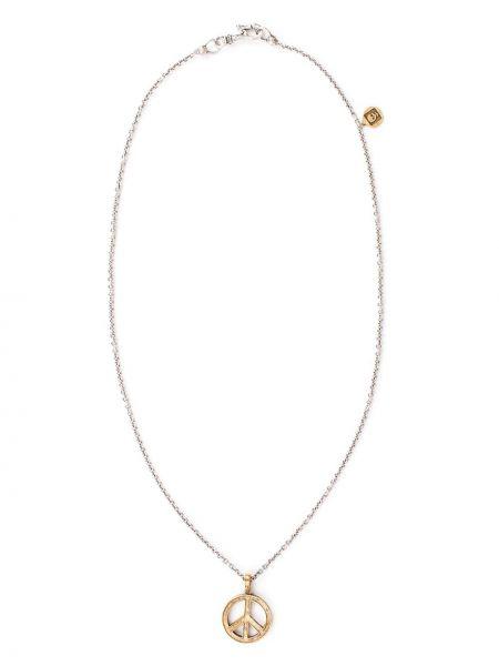 Złoty naszyjnik z diamentem John Varvatos