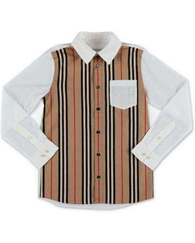 Biała koszula bawełniana Burberry