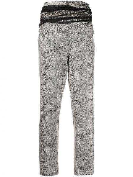 Черные брюки с запахом из искусственной кожи Y Project