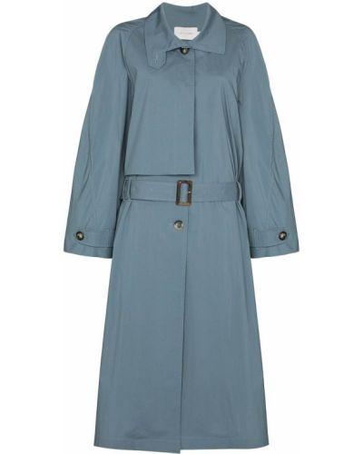 Ватное нейлоновое синее пальто классическое Low Classic